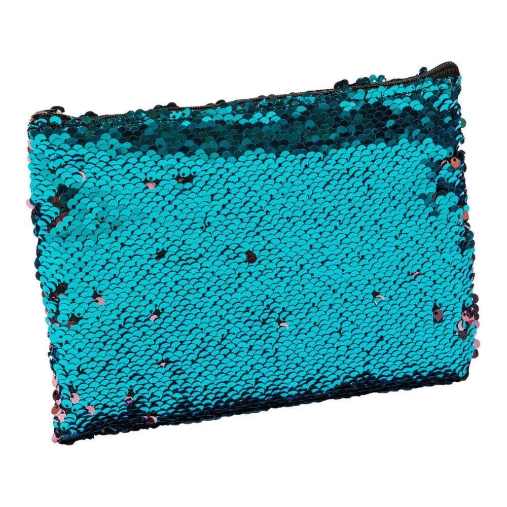 Tyrkysová kosmetická taštička / peněženka s flitry Now or Never Mermaid Tales