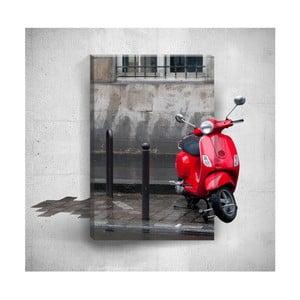 Nástěnný 3D obraz Mosticx Red Scooter, 40 x 60 cm