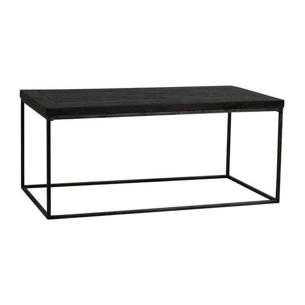 Czarny stolik z drewna dębowego Rowico Lato