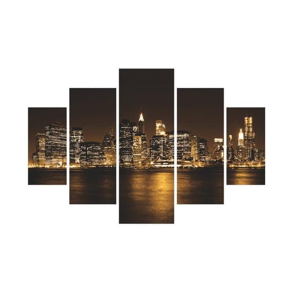 5dílný nástěnný obraz New York City