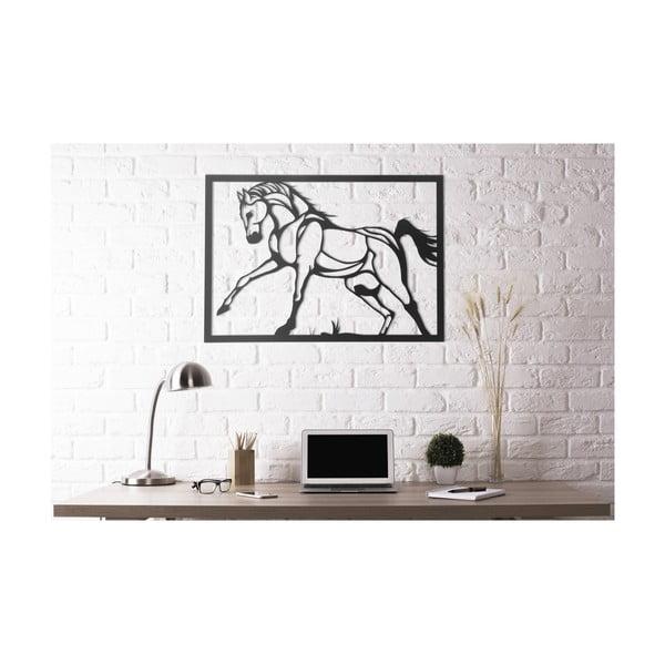 Decorațiune din metal pentru perete Horse, 50 x 70 cm