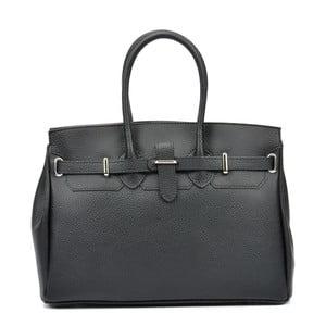 Černá kožená kabelka Carla Ferreri Serena