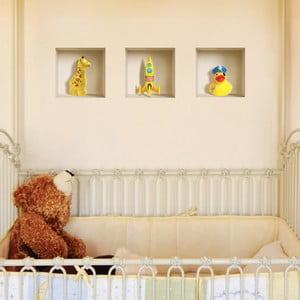 3D samolepky na zeď Nisha Yellow Dake