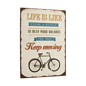 Cedule Life is like riding a bike, 35x26 cm