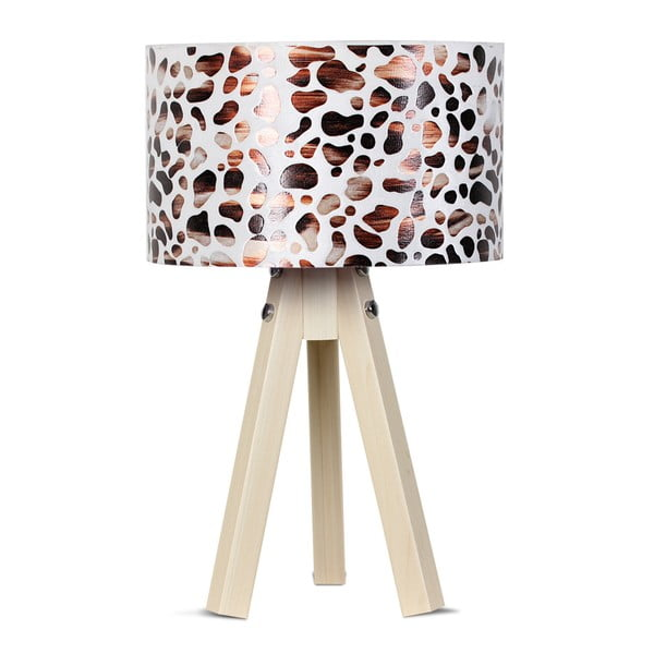 Lampa stołowa Kate Louise Kahve Leopard