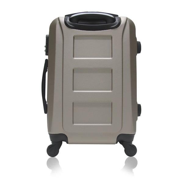 Světle hnědý cestovní kufr na kolečkách Hero Lock, 91 l