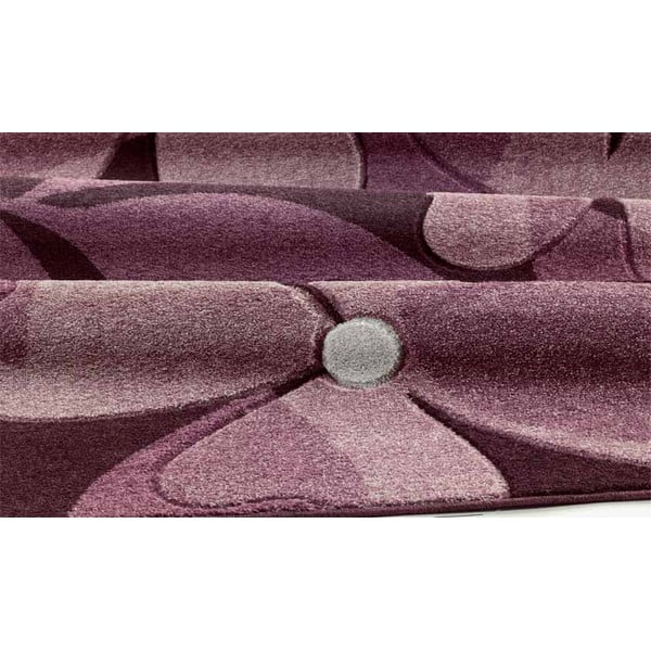 Koberec Intarsio Floral Violet, 160x230 cm