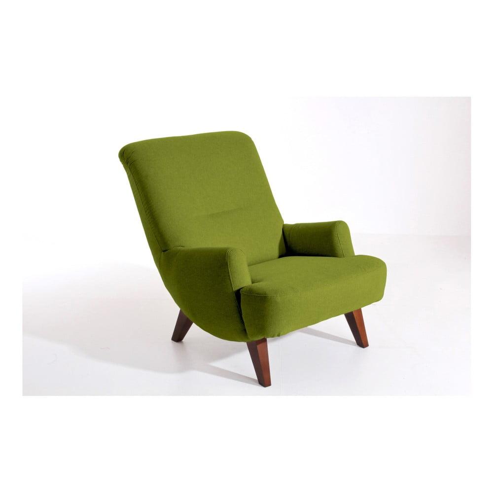 Zelené křeslo Max Winzer Brandford