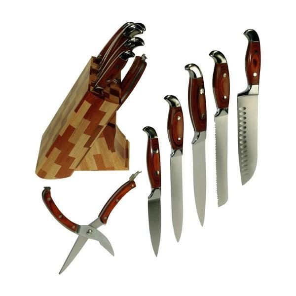 Sada nožů se stojánkem Wood Flat