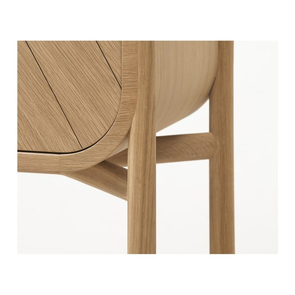 Konzolový stolek z dubového dřeva s šuplíkem HARTÔ Marius
