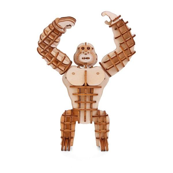 3D puzzle z balzového dřeva Kikkerland Gorilla