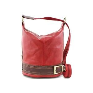 Červená kabelka z pravé kůže GIANRO' Melody