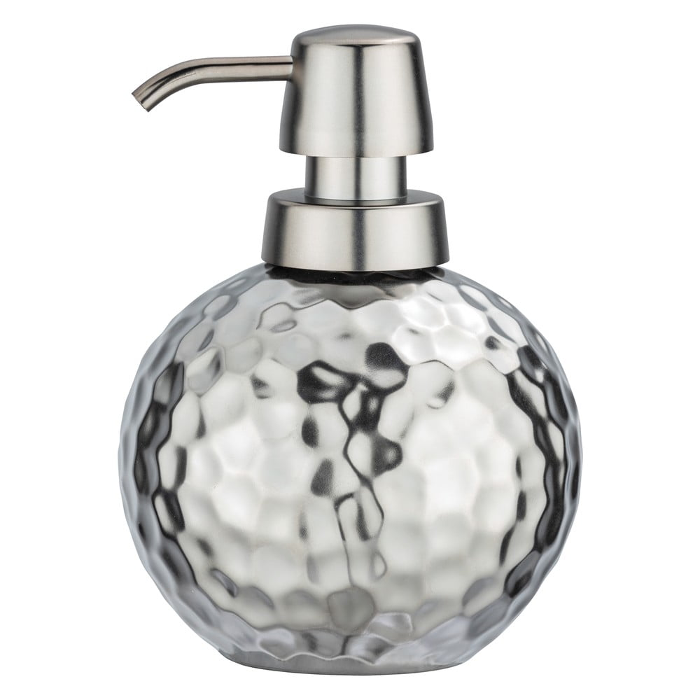 Produktové foto Keramický dávkovač na mýdlo ve stříbrné barvě Wenko Luna, 500ml