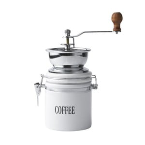 Bílý porcelánový mlýnek na kávu Galzone Coffee Mill