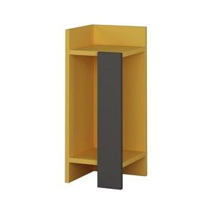 Žlutý noční stolek Homitis Samantha