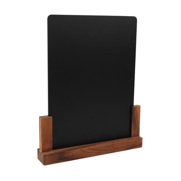 Tăbliță pentru cretă cu suport din lemn de salcâm T&G Woodware Rustic, înălțime 32 cm