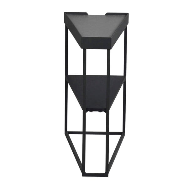 Černý odkládací stolek s poličkou Folke Wraith
