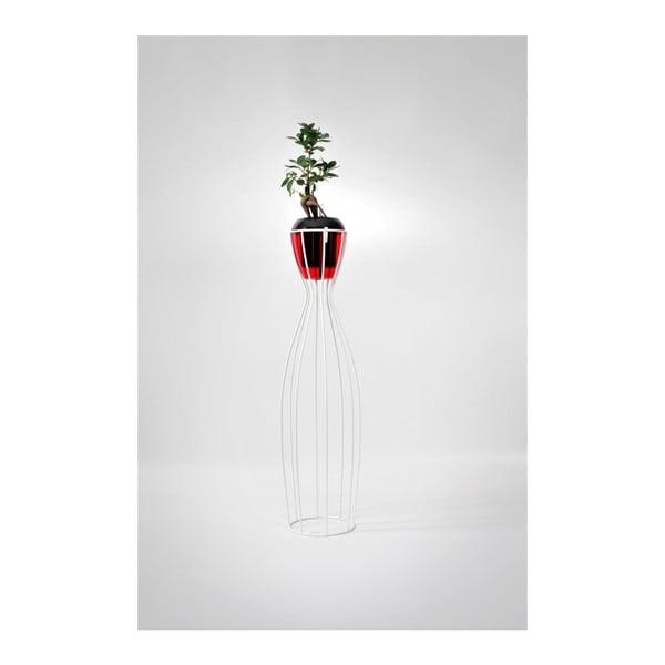 Samozavlažovací květináč Calimera (černá, vínová) se stojánkem Calimera Amphora