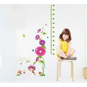 Samolepka s metrem Fanastick Purple Flowers and Mushroom