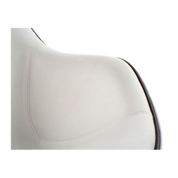 Bílé otočné křeslo Kokoon Daytona