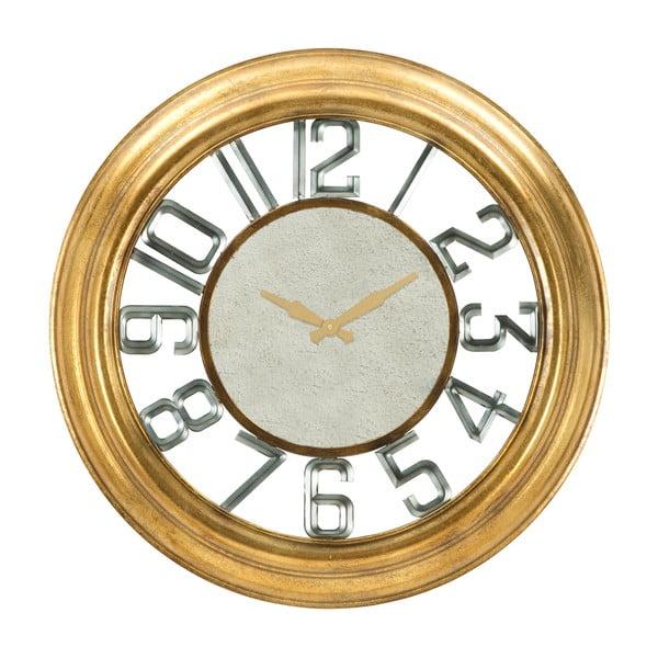 Żelazny zegar ścienny w złotym kolorze Mauro Ferretti Ver