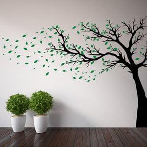 Samolepka na stěnu Wallvinil Strom s lístky, levá strana