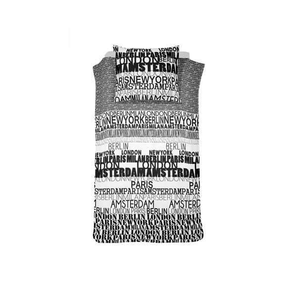 Povlečení Case City Black, 140x200 cm