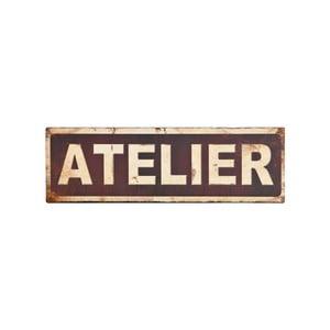 Kovová cedule Antic Line Atelier, 35 x 11 cm