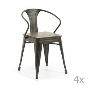 Sada 4 zahradních židlí La Forma Malibu