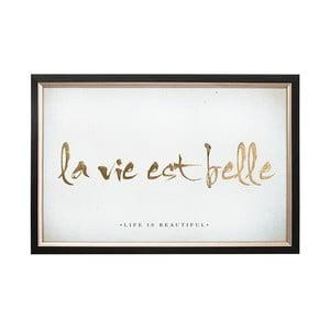 Tablou cu ramă Graham & Brown La Vie Est Belle, 60 x 40 cm