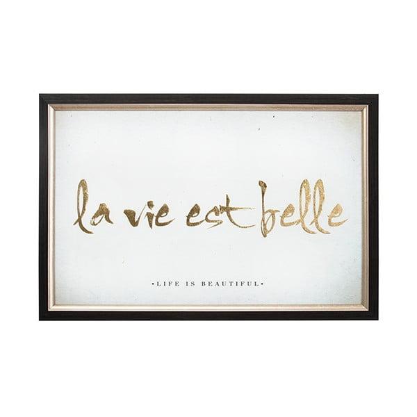 Obraz v rámu Graham & Brown La Vie Est Belle,60x40cm