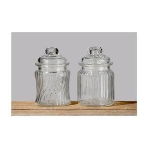 Set 2 doze decorative de sticlă Boltze Clear