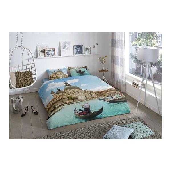 Bavlněné povlečení na jednolůžko z bavlny Good Morning Premento Venice, 140 x 200 cm