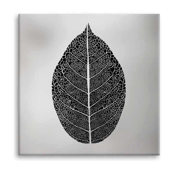Tablou imprimat pe pânză Styler Silver Leaf, 60 x 60 cm