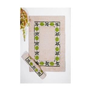 Set koupelnových předložek II, Cream Green