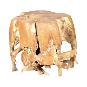 Zahradní konferenční stolek z teakového dřeva Massive Home Limb, ⌀50cm
