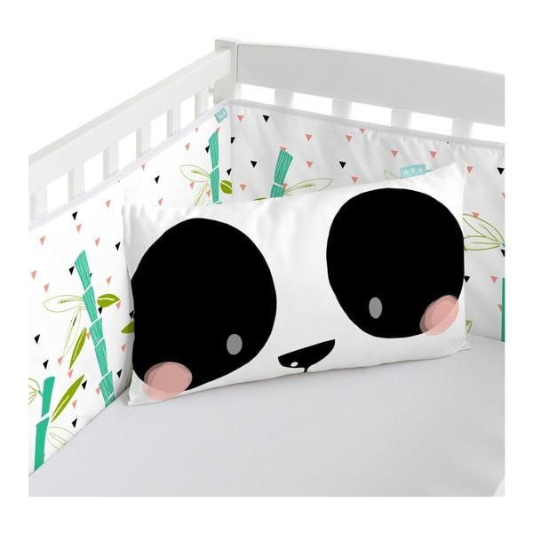 Výstelka do postýlky Moshi Moshi Panda, 210x40cm