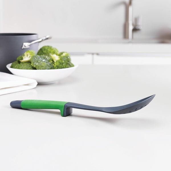 Zeleno-šedá perforovaná vařečka Joseph Joseph Elevate