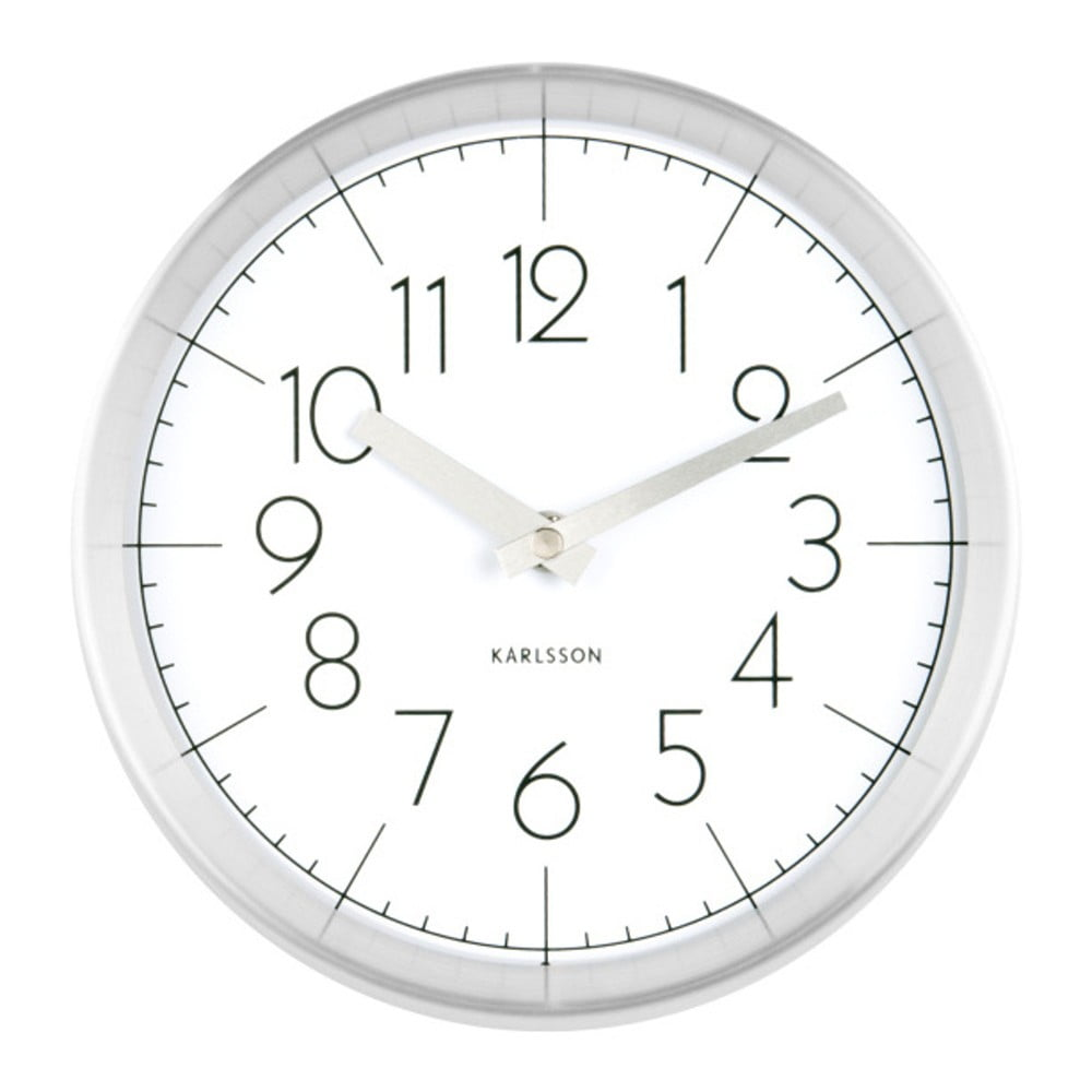 Bílé nástěnné hodiny ETH Convex