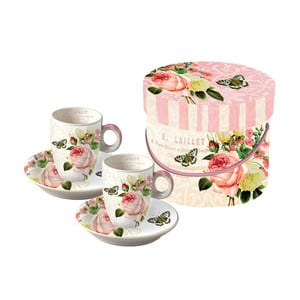 Sada 2 porcelánových hrnků na espresso PPD Jardin Rose, 100ml
