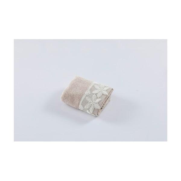 Béžový bavlněný ručník Bella Maison Taraxacum,50x90cm