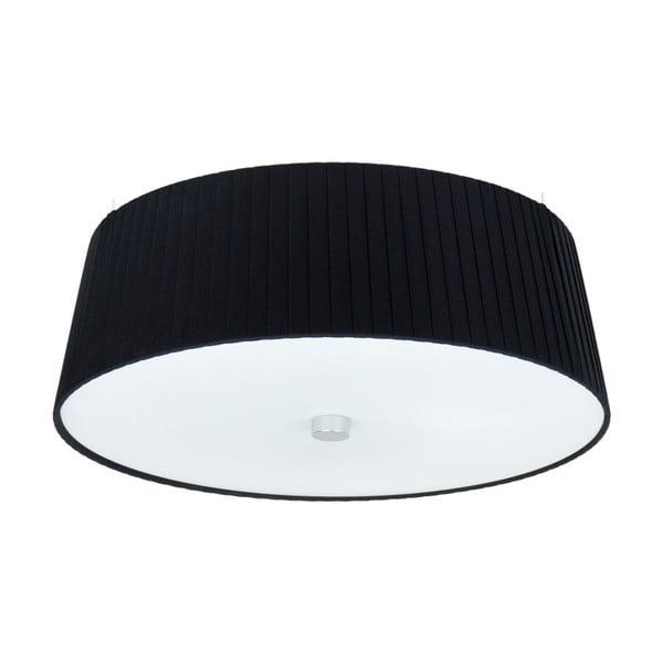 Czarna lampa sufitowa Sotto Luce KAMI,Ø36cm