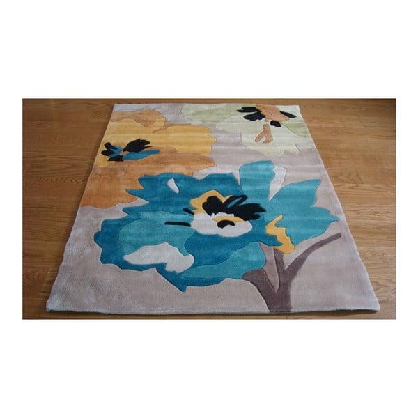 Koberec Bloom 160x220 cm, modrý