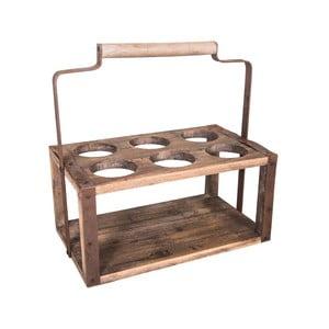 Suport din lemn pentru 6 sticle antic Line