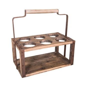 Suport din lemn pentru 6 sticle antic Line imagine