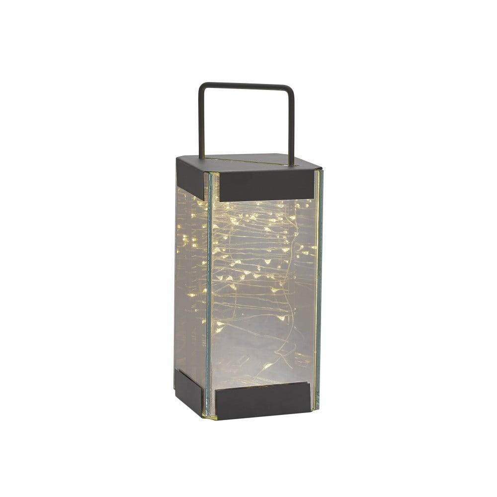 Lucerna s LED světýlky Villa Collection Quadro, 25 cm