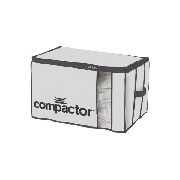 Bílý textilní úložný box Compactor Brand XXL Grande