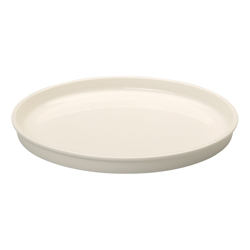 Bílý oválný servírovací talíř z porcelánu Villeroy & Boch Clever Cooking, 30 cm