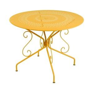 Žlutý kovový stůl Fermob Montmartre, Ø96cm