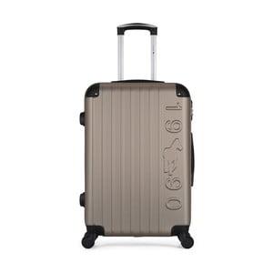 Hnědobéžový cestovní kufr na kolečkách GENTLEMAN FARMER Valise Grand Cadenas Integre Malo, 45 x 65 cm